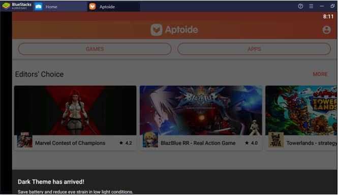 Aptoide Homepage