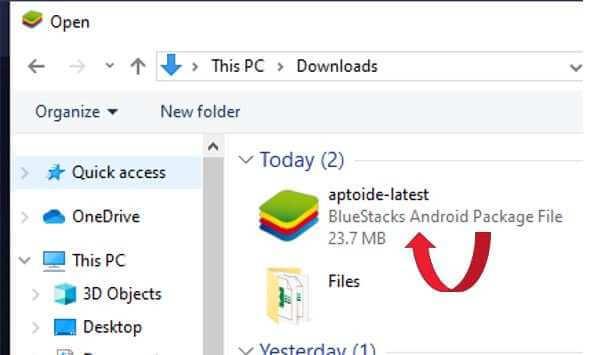 Browsing file