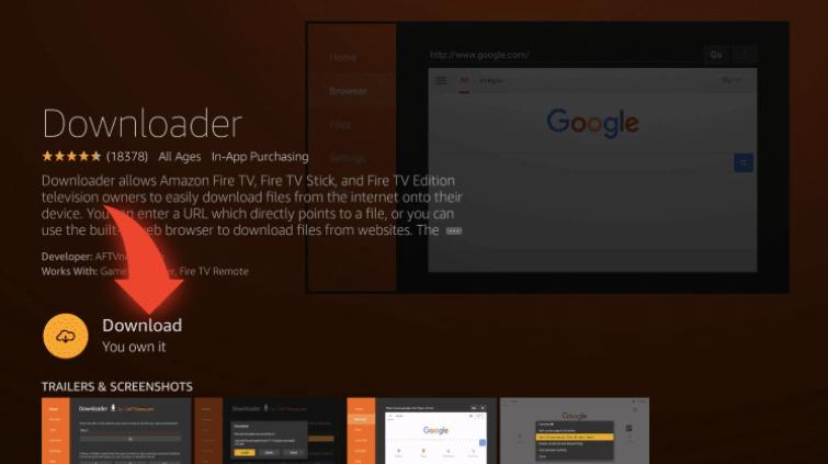 Download Downloader app on Firestick