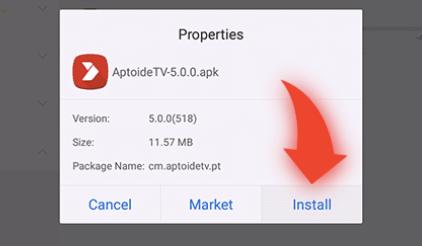 Install Aptoide TV Using ES File Explorer