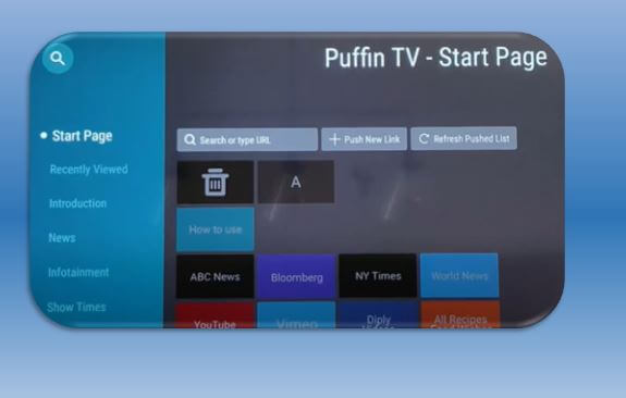 Puffin TV Home Page
