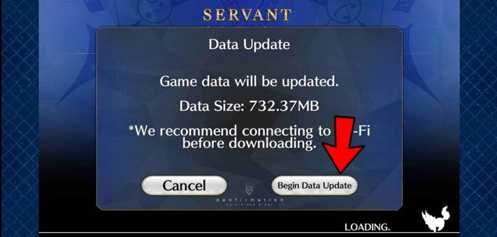 Data update of Fgo
