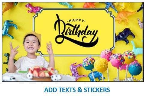 Add Texts & Stickers