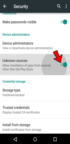 Unknown Sources in Android 2
