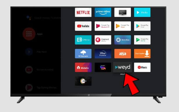 Weyd APK installed on Firestick