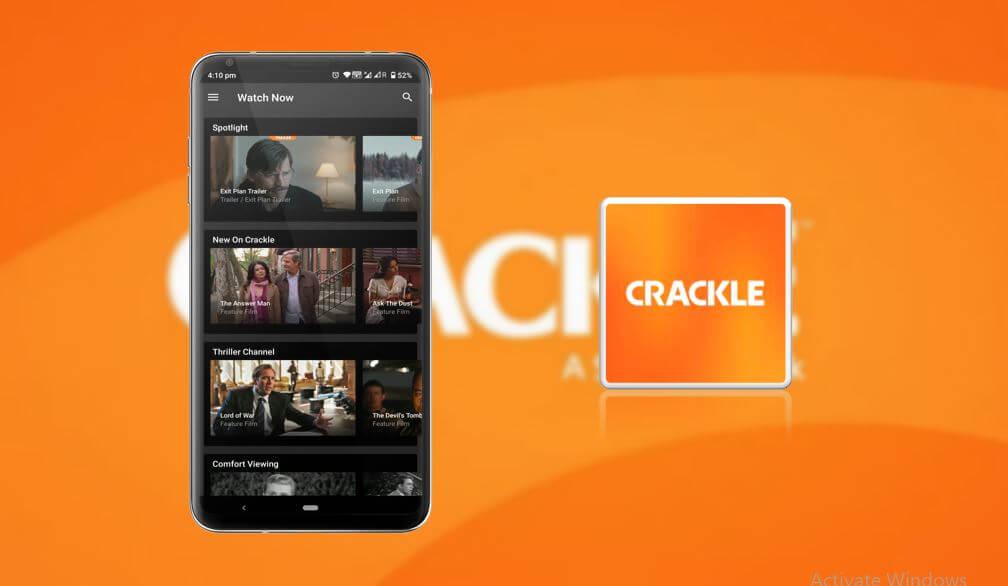 Crackle homepage image